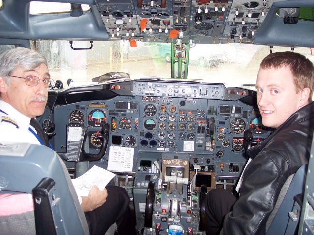 Rod Peet (left) and co-pilot (right)