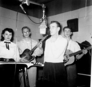 L-R: Pat Miller - Dick Vernon - Wayne Hart - Chug Geisler - Year:1956